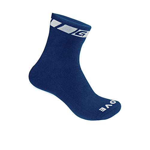 GripGrab Spring Fall Thermolite Midseason Padded Thermal Bicycle Socks Cushioned Breathable for Cycling Hiking Walking, Calzini da Ciclismo Unisex-Adult, Blu Scuro, S (38-41)