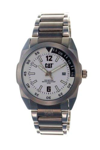 Caterpillar PF 141 11 221 - Reloj de caballero con correa de acero inoxidable