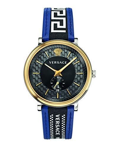 VERSACE Armbanduhr V Circle 42MM-D/BLK S/BLU BICOSS/IP1N-BLU Strap W/BLK Ribbon VEBQ014 19