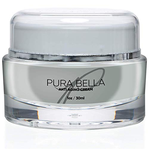 Pura Bella Anti Aging Cream-Boosts Collagen & Elastin Production, Eliminates Wrinkles & Fine Lines, Diminishes Crow's Feet & Dark Spot, Improves Skin Hydration & Suppleness-Most Effective Face Moisturizer Product on Amazon