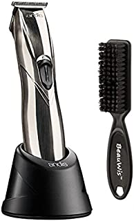 Andis Slimline Pro Li Cordless T-Blade Trimmer with a BeauWis Blade Brush