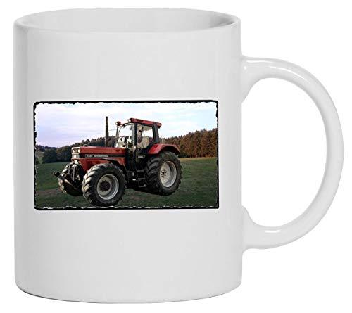 Bimaxx Tasse   Kaffeebecher   Traktor Abbildung IHC Case 1455XL   weiß