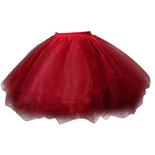 FEOYA Donna Balletti Danza Tutu Gonna Annata di 50 Cocktail Gonna in Tulle Principessa Bubble Sottogonna Tulle