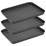 N\A 3 Stück Schuhabtropfschalen Mehrzweck-Kofferraummatte, Kofferraum-Ablage für den Innenbereich, 35 x 27,5 x 3 cm, Schuh-Tablett für Wassernapf für Regenschuhe, Winterschuhe