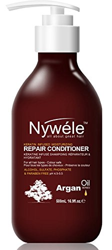Nywele Keratin Infused Moisturizing Repair Conditioner 16.9oz - SULFATE, ALCOHOL, PHOSPHATE & PARABEN FREE (Color safe)