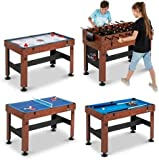 "KCHEX 54"" 4-in-1 Combo Entertainment Game Table with Soccer,..."