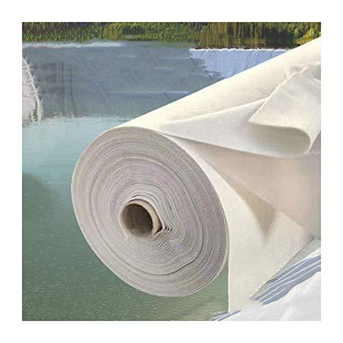 GDMING Teichfolie Mit Unterlageschutz, 3 Schichten Durchstoßfestigkeit Teichfelle, Zum Undurchlässig Fischteich Hangschutz, 64 Größen (Color : White, Size : 5x5m)