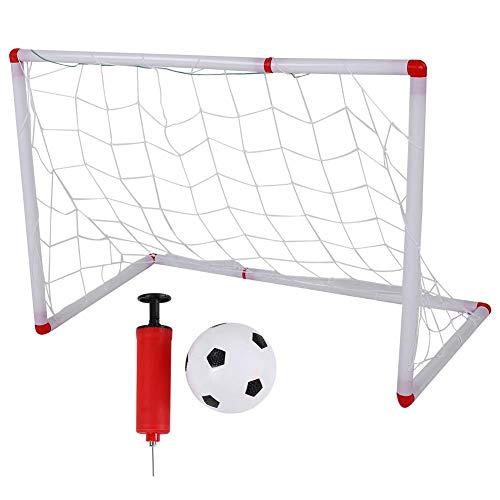 VGEBY Juego de portería de fútbol para niños, Juego de Juguete de Entrenamiento de fútbol para niños Football Net con Bomba de Bola para la Actividad de Deportes al Aire Libre en Interiores
