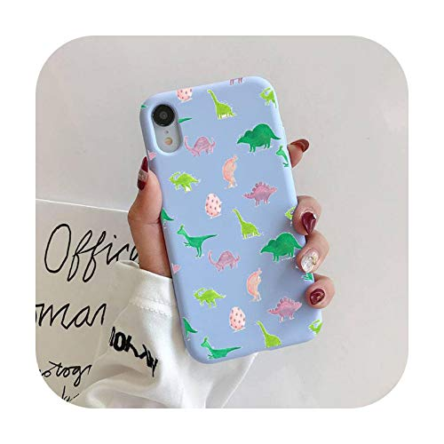 Caja de teléfono de dinosaurio de dibujos animados líquido para iPhone 11 Pro Max XR XS X Soft Candy Cover para iPhone 6 6S 7 8 Plus Cases-a3-iPhone6 6s