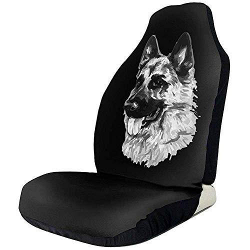 Fundas de asiento de coche universales de perro pastor alemán para asientos delanteros protectores para coche, camión y SUV