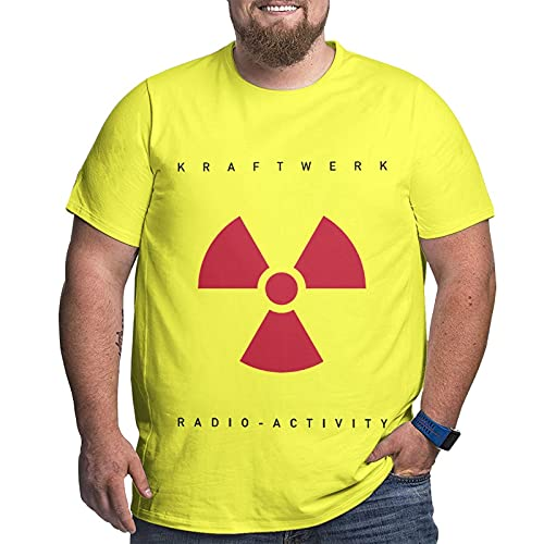 Men's Plus Size (XL to 6XL) Yellow Kraftwerk Radio Activity T-shirt