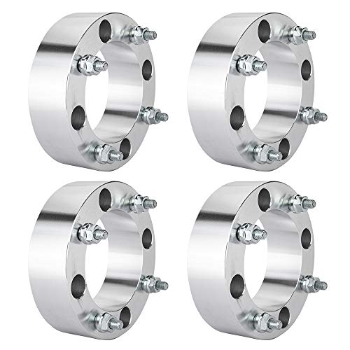 TRIBLE SIX 4pcs 4x137 4137 2inch ATV Wheel Spacers Adapter 10x1.25 Studs Replacement for Bombardier Can-Am Maverick Commander Outlander 500 650 800 Kawasaki Prairie