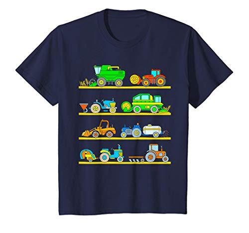 Enfant Tracteur Garçon Bébé Moissonneuse Batteuse Véhicules Ferme T-Shirt