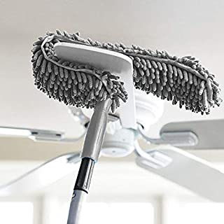 SHRBI Multi-Functional Microfiber Fan Duster for Home Cleaning, Car Interior, Wall and Ceiling Flexible Broom/Brush/Mop wi...