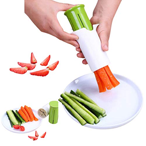Cucumber Slicer Strawberry Slicer Grape Slicer Carrot Cutter Potato Cutter Creative Kitchen Tools brgtMultiFunction Fruit And Vegetable Slicer Fruit Salad Making Pizza Fruit Dispenser