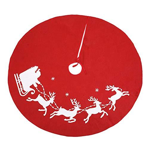 LIOOBO Falda de árbol de Navidad Patrón de Alces Alfombra de pie...