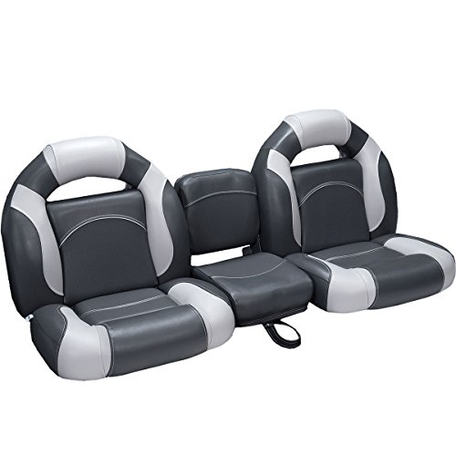 DeckMate 56' Bass Boat Seats (Charcoal & Gray)