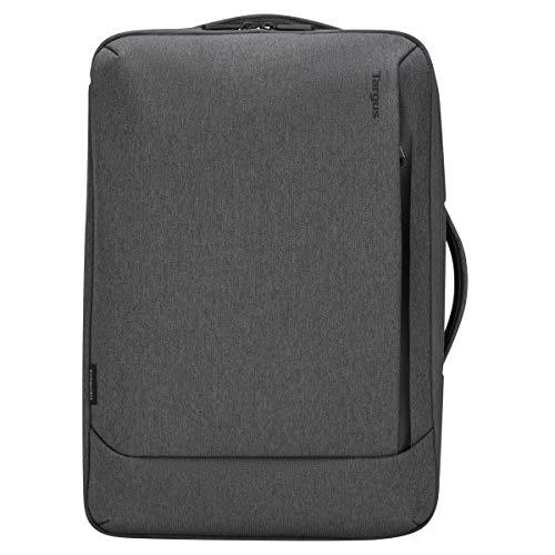 Targus Cypress Convertible Rucksack 19 L, umweltfreundlicher Laptop Rucksack aus recycelten Flaschen, gepolstertes Laptopfach für 15,6 Zoll, wandelbare Laptoptasche – Grau, TBB58702GL