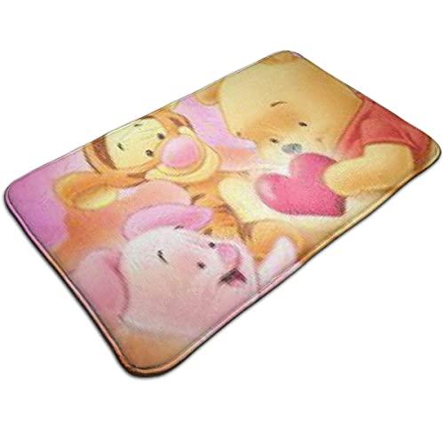 Alfombra de puerta Winnie The Pooh y Piglet Alfombra de entrada para interiores y exteriores Alfombras de piso Alfombra antideslizante Floor Mat Alfombras finas antideslizantes para la alfombra de la