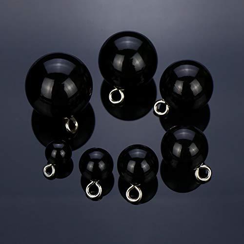 JDYDDSK Button Pins for Women's Chiffon Shirt Cardigan Jacket Black Buttons Children's Woolen Coat Buttons, 10 PCS Perfect Highlight Pearl Buttons,Black,8mm