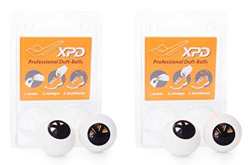 2er-Pack SNEAKER BALLS (4Stück!!!) Desinfektion für SCHUHE & SPORTTASCHEN Duftspender Geruchsentferner