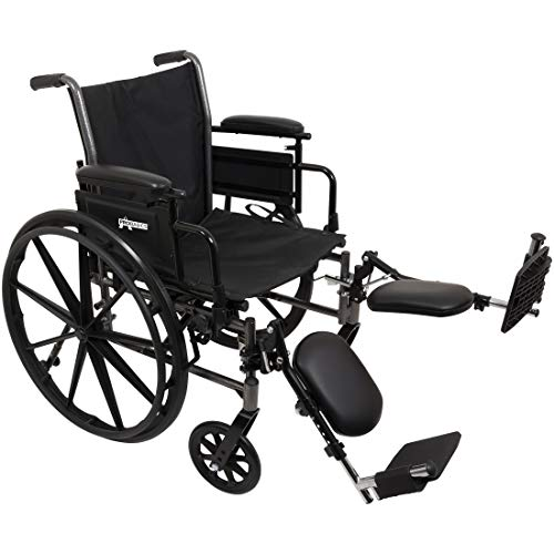ProBasics Lightweight Wheelchair for Adults - Flip Back Height Adjustable Desk Arms with Elevating Leg Rest - 18