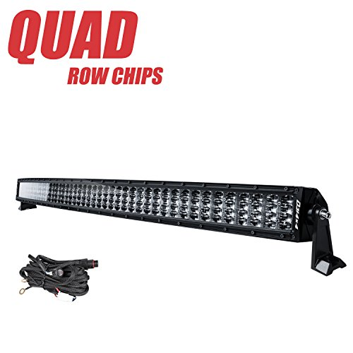 54 Inch Curved LED Light Bar, DJI 4X4 832W Quad Row LED Driving Light Off Road LED Work Lights Combo Fog Lamp for Trucks Jeep SUV ATV UTV, 2 Years Warranty
