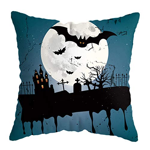 4pcs Halloween Pillow Cases Linen Sofa Pumpkin Ghosts Cushion Cover Home Decor, Pillow Case, Home Products for Christmas Day (Multicolor)