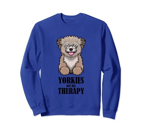 Divertente Yorkshire Terrier come proprietario di un cane da Felpa