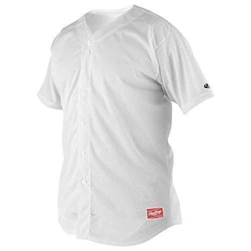 Rawlings Youth Full Button YBJ167 Jersey, Weiß, Jugendliche, Größe M