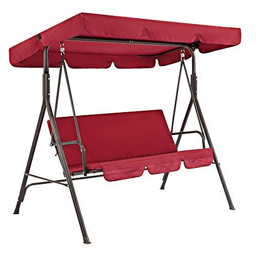 ZSooner Toldo para silla de columpio, funda de cojín para asiento de columpio, 2 unids/set impermeable a prueba de sol para patio