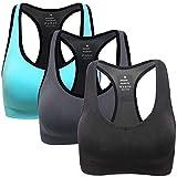 Abollria Sujetador Deportivo para Mujeres, cómodos Suave y Almohadillas Extraíbles,Bra Deporte sin Costuras para Yoga/Fitness/Run/Ejercicio