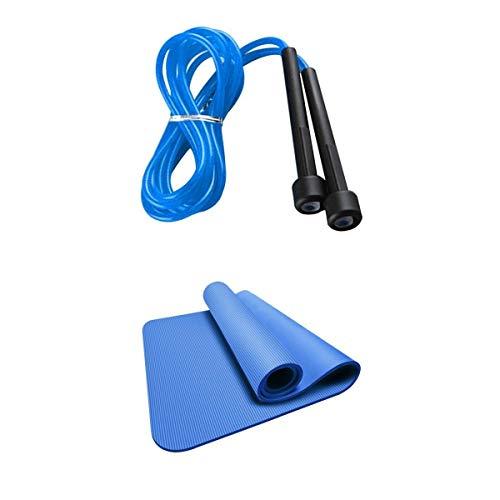 harayaa Yoga Pilates Mat Fitness Esercizio Danza Donne Uomini Blu & Amp; Corda a