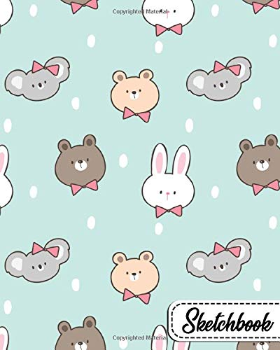 Sketchbook: Fantastic Workbook and Notebook for Drawing, Sketching, Painting, Writing, Class, Work or Home Use - Kawaii Baby Animals Pattern