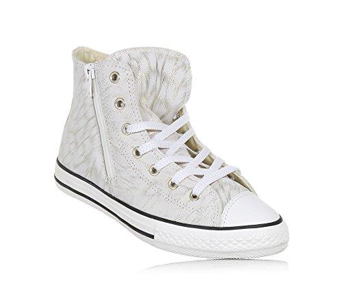 CONVERSE - SBeige Sneaker mit Schnürsenkeln aus Wildleder mit Glitzern, Mädchen, Damen-38,5