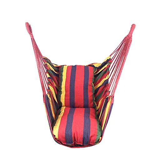 Opknoping Stoel Swing, Gekleurde Strip Hangmat met armleuningen kinderen Swing hangstoel met Pillow 2 Yard Swing hangstoel