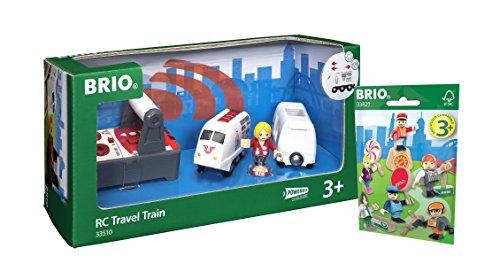 BRIO Eisenbahn Set - 33510 IR Express Reisezug und 33829 1x Figuren Pack Serie 1