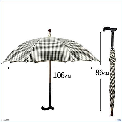 Oud anti-slip wandelstok paraplu winddicht duurzaam dicht zwart retro zwart bergen lange steel wandelstok paraplu