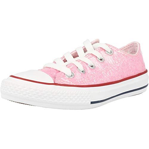 Converse Chuck Taylor All Star Sneaker, Pink (Pink Foam/Enamel Red/White 000), 33 EU