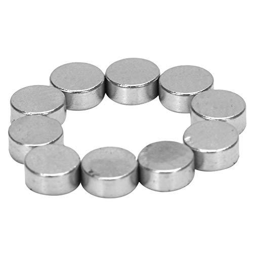 Fltaheroo Silber-Ton 4 mm x 2 mm Seltene Erden Neodym-Magnet Starke 10 Stueck