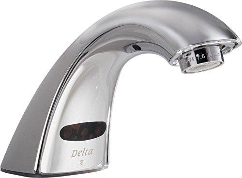 Delta Faucet Single Hole Bathroom Faucet, Touchless Bathroom Faucet Chrome, Commercial Bathroom Faucet, Chrome 590LF-LGHGMHDF, 6.92 x 2.20 x 6.92 inches