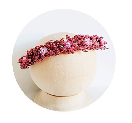Fotografie Props voor Pasgeboren Baby Hoofdhanden Bloem Haaraccessoires Haarbanden Kroon, Diep Rood