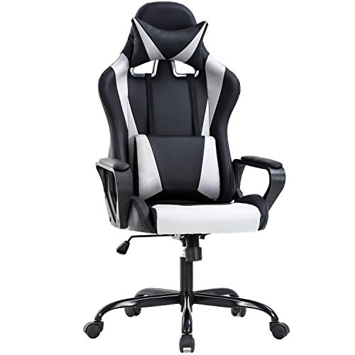 Ergonomic Office Chair PC Gaming Chair Desk Chair PU Leather Racing Chair...
