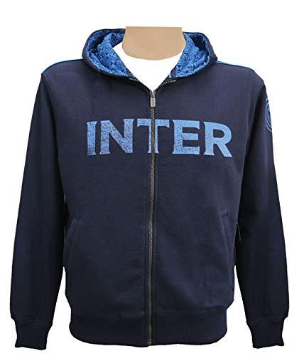 Inter Felpa Bambino Cappuccio e Full Zip in French Terry, Navy, 6