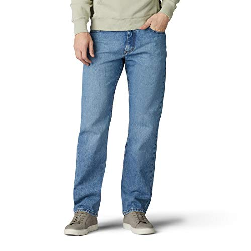 Lee Pantalones Vaqueros de Pierna Recta de Ajuste Regular para Hombre, Vintage Stone, 36W x 30L