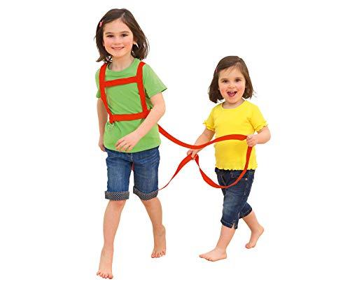 Betzold Pferde-Geschirr, für Kinder, mit Sicherheits-Schnell-Verschluss, Zuglänge 85 cm, Brustumfang 110 cm - Kinder Pferdeleine Pferdchen-Spiel Rollenspiel