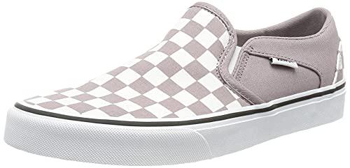 Vans Asher, Zapatillas Mujer, Checkerboard Purple Dove White, 35 EU