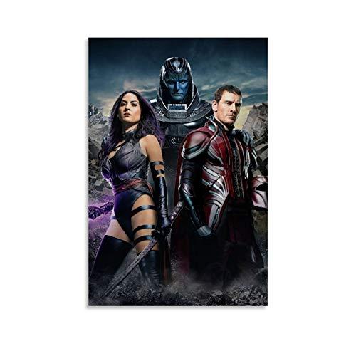 DRAGON VINES Póster de película X-Men Apocalipsis Mutant Psylocke Magneto Cool Art Lienzo impreso para pared para sala de estar, oficina en casa, 20 x 30 cm