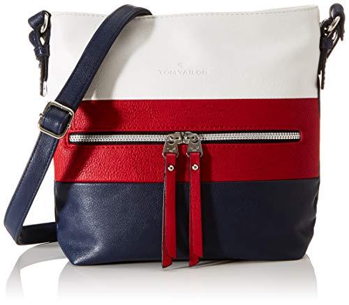 TOM TAILOR bags ELLEN Damen Umhängetasche M, mixed maritim, 25,5x5,5x23,5