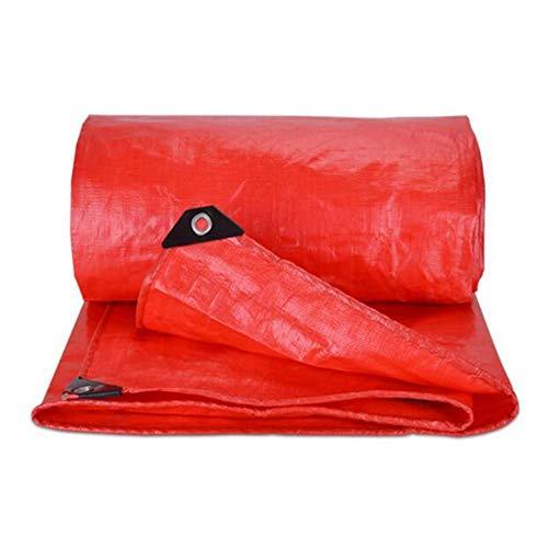 Dall bâche Imperméable Bâche Imperméable Couverture De La Feuille De Plein Air Ombre du Soleil (Couleur : Red, Taille : 4 * 5m)
